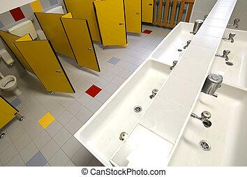Badezimmer, Kinder, Innenseite, Ohne, Kinder, ...