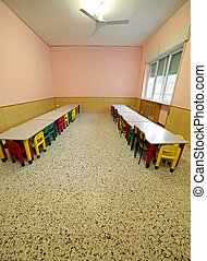 lunchroom with tables and chairs for children - lunchroom...