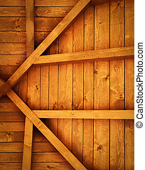 wooden roof truss detail - background or texture wooden roof...