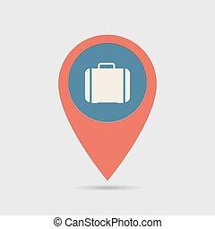 Map Pin For Handbag Location