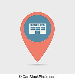 Map Pin For Post Office Location