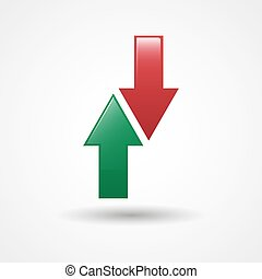 Up And Down Arrows Icon | Substitute Sign In Football |...