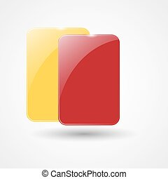Yellow Card And Red Card | Football, Soccer Icon | Vector...