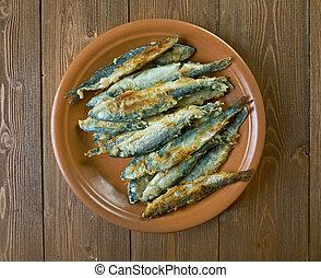 pescado blanco, frito, finlandés