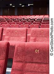 Cinema interior - Close up of cinema auditorium interior...
