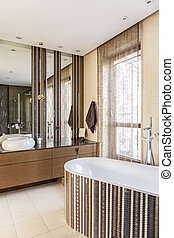 Interior with plunge bath - Luxurious interior with plunge...