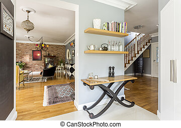 Cozy interior with rustic furnitures - Cozy and functional...