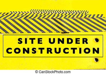 Under construction web page or website banner