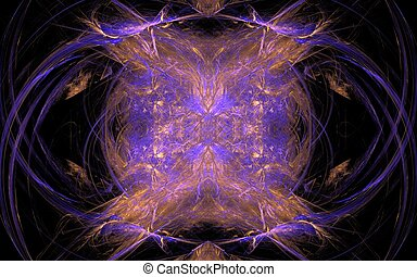 bunch of cosmic energy - abstract image of chaotic...