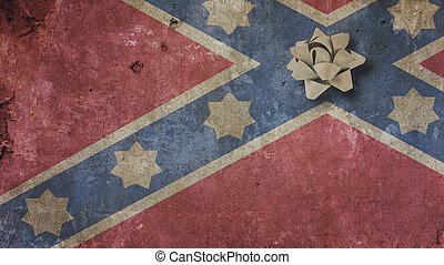 Robert Edward Lee Day. Confederate Flag on Concrete and...