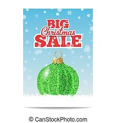 Green glitter christmas ball for christmas sale