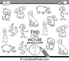 educational task for coloring - Black and White Cartoon...