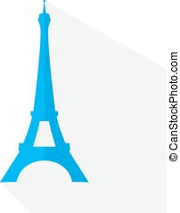 Vector Eiffel Tower in style flat design