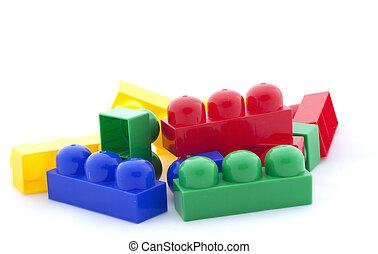 背景, 白色, 玩具, 被隔离, 建造者