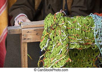 knitting workwoman