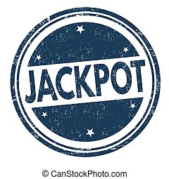 Jackpot sign or stamp - Jackpot grunge rubber stamp on white...