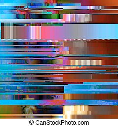 Glitched abstract vector background made of colorful pixel mosaic. Digital decay, signal error, television fail. Trendy design for print poster, brochure cover, website and other projects.