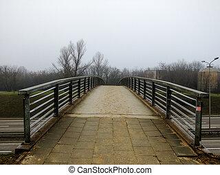 Road leading to a small Bridge - Small Bridge over a high...