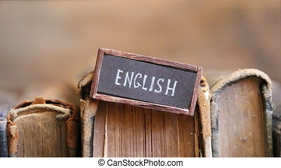 learning english idea, label and old books - English tag and...