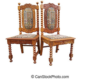 Two Antique Ornate Chairs