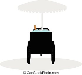 bike of icecream on white background - EPS 10 vector...