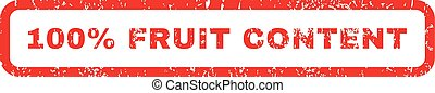 100 Percent Fruit Content Rubber Stamp - 100 Percent Fruit...