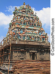 hindu temple in Chennai, south India - hindu temple in...