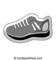 sport shoes isolated icon