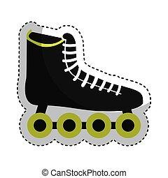 skate sport equipment icon vector illustration design