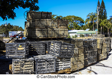 Wooden Crab and Lobster pots in FL - Wooden Crab and Lobster...