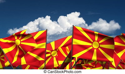 Waving Macedonian Flags (seamless & alpha channel)