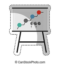 paperboard training isolated icon vector illustration design