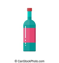glass bottle of wine.