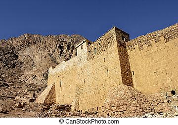 Saint Catherine's Monastery in th Sinai Desert, Egypt