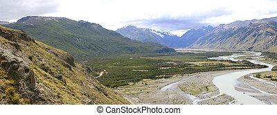 Los Glaciares National Park in El Chalten, Patagonia -...