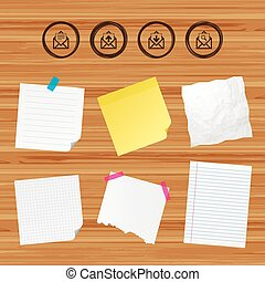 Mail envelope icons. Message document symbols. - Business...