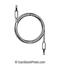 audio plug cable isolated icon