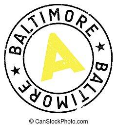 Baltimore stamp rubber grunge - Baltimore stamp. Grunge...