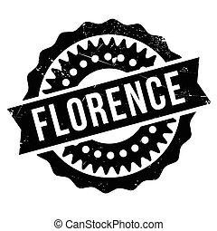 Florence stamp rubber grunge - Florence stamp. Grunge design...