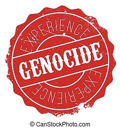 Genocide stamp rubber grunge - Genocide stamp. Grunge design...