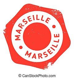 Marseille stamp rubber grunge - Marseille stamp. Grunge...