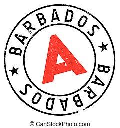 Barbados stamp rubber grunge - Barbados stamp. Grunge design...