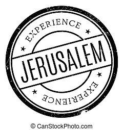 Jerusalem stamp rubber grunge - Jerusalem stamp. Grunge...