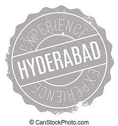 Hyderabad stamp rubber grunge - Hyderabad stamp. Grunge...