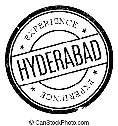 Hyderabad stamp rubber grunge - Hyderabad stamp. Grunge...
