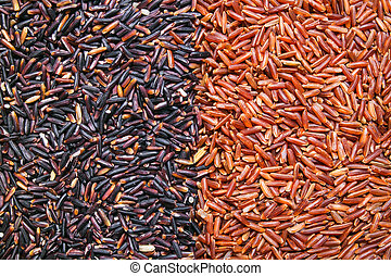 red, black rice background or texture