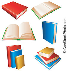 Books. - Collection of books with color covers.