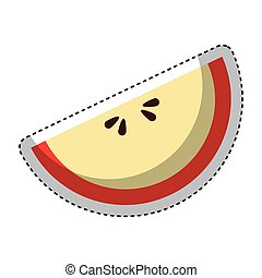 delicious apple fruit icon vector illustration design