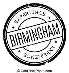 Birmingham stamp rubber grunge - Birmingham stamp. Grunge...