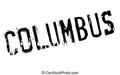 Columbus stamp rubber grunge - Columbus stamp. Grunge design...